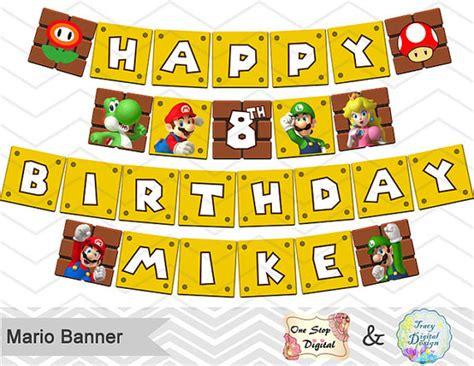printable mario banner printable super mario banner printable super mario inspired