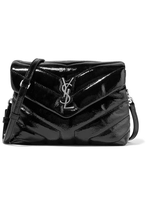 Small Patent Bay Shoulder Bag by Yves Laurent Laurent Loulou Small Quilted