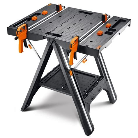 folding saw bench pegasus folding work table sawhorse wx051 worx