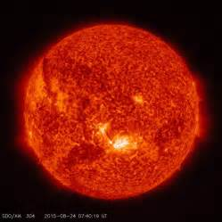sun light solar sun unleashes medium strength solar flare photo