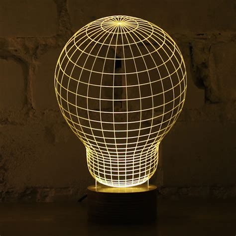 3d optical illusion of 2d lamps fubiz media