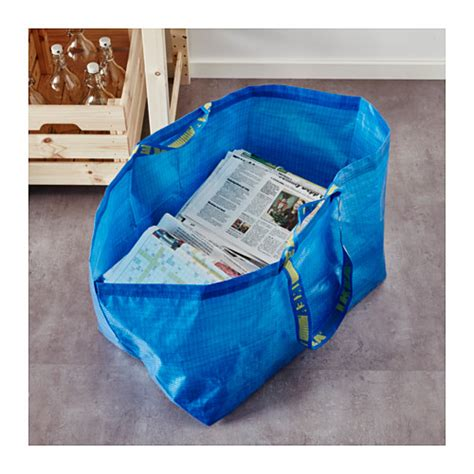 frakta shopping bag frakta carrier bag large blue 71 l ikea