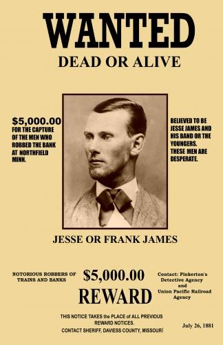 jesse james wanted mini poster
