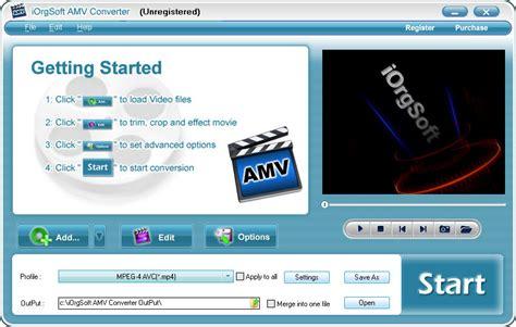 format video amv amv video converter wmv mpeg mov asf rm avi to amv converter