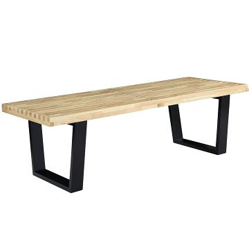 nelson style bench george nelson style bench 48 quot