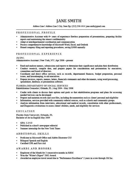what to put in profile section of resume kantosanpo com