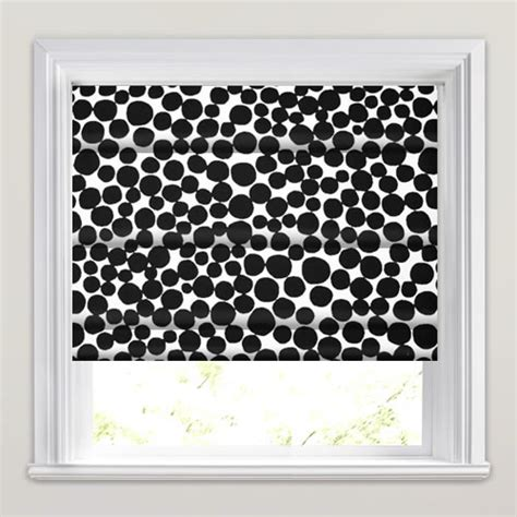 black patterned roman blind patterned roman blinds funky contemporary black white