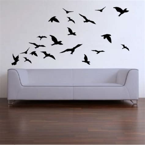 lifesize wall stickers wall decals 20 lifesize abstract birds vinyl decals wall