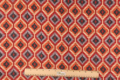 waverly upholstery fabric sales waverly geo diamond printed cotton drapery fabric in red