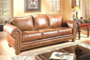 rustic leather sofa bradley s furniture etc rustic leather collections