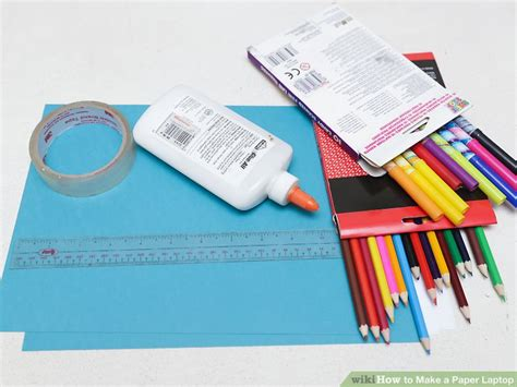 How To Make A Paper Computer - how to make a paper laptop 9 steps with pictures wikihow