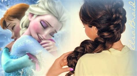 cute girl hairstyles elsa braid frozen elsa inside out braid hair tutorial cute