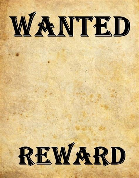 Wanted Poster Template Free by 9 Wanted Poster Templates Word Excel Pdf Formats