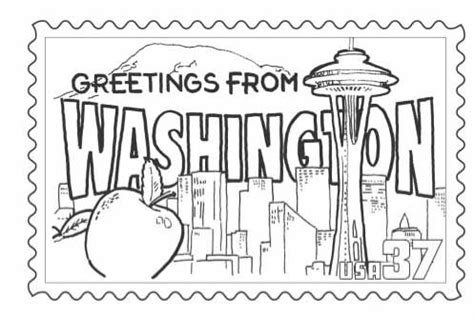 printable state postcards state postcards coloring pages