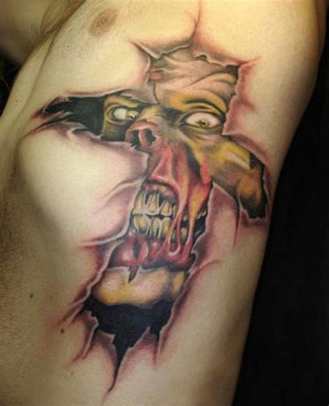wicked cross tattoos cross ripped skin for tattooshunt