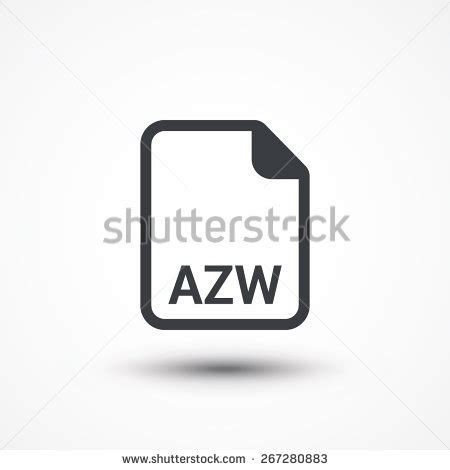 ebook format azw file document icon download xml button stock vector