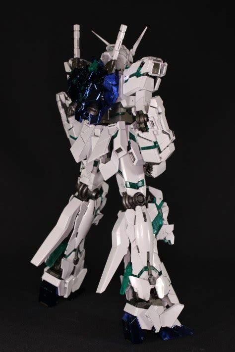 Mg Unicorn Gundam Titanium Finish Green Frame Edition detailed review mg 1 100 unicorn gundam green frame edition titanium finish no