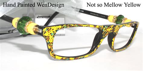 Not So Mellow Yellow by Wendesigns Painted Collection Eyewearclics