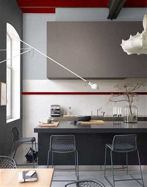 Charmant Peinture Pour Cuisine Blanche #4: peinture-couleur-cuisine-grise-antracite-et-taupe-dulux-valentine.jpg