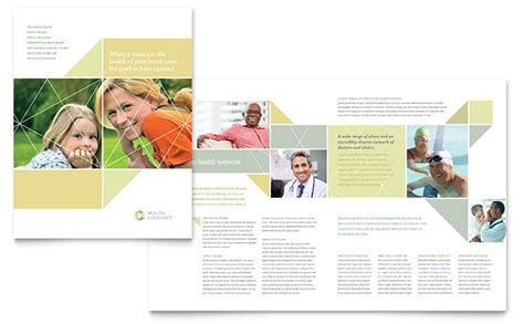 Insurance Information Brochure Outline by Health Insurance Brochure Template Design