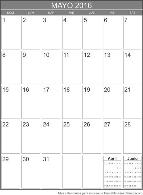 almanaque mayo 2016 calendario mayo 2016 para imprimir calendarios para imprimir