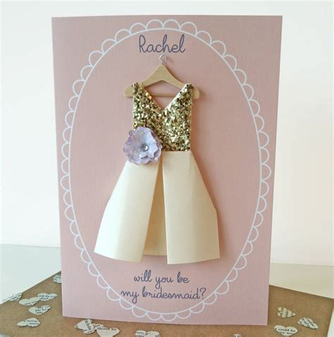 Handmade Will You Be My Bridesmaid Cards - handmade will you be my bridesmaid cards 28 images