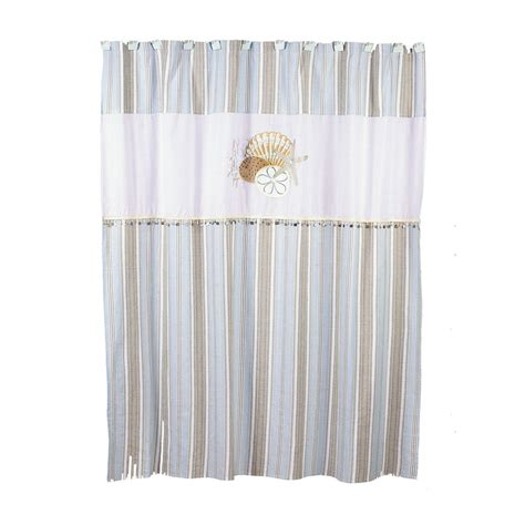 shell shower curtain shop avanti by the sea polyester shell motif patterned