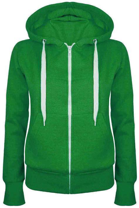 Jaket Parka Hoodie Aftersix plain hoody zip top womens hoodies sweatshirt jacket plus size 6 26 ebay