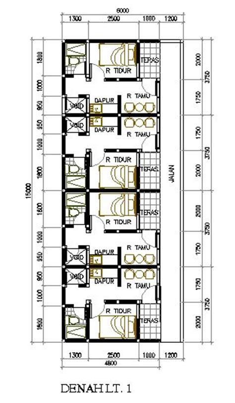 Layout Rumah Petakan | desain rumah petakan di lahan 6 215 15 m2 eramuslim rumah
