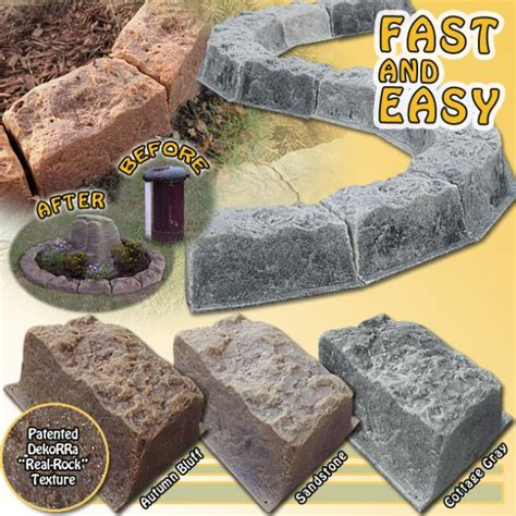 Lightstone Landscape Edging Realistic Faux Border Edging Blocks Images Frompo
