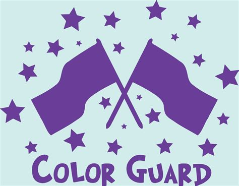 color guard color guard color guard flags and wall decal