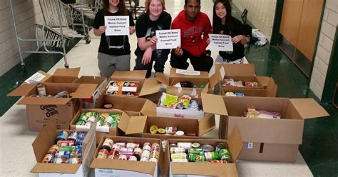 Palatine Food Pantry by Fremd High School Department Donates Food To