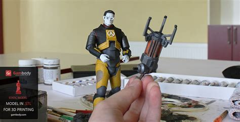 Painting 3d Printed by Gordon Freeman 3d Model Printed And Painted