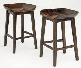 solid wood bar stools carved seat scooped tractor