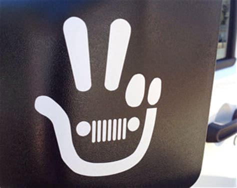 jeep wave sticker jeep wave decal etsy