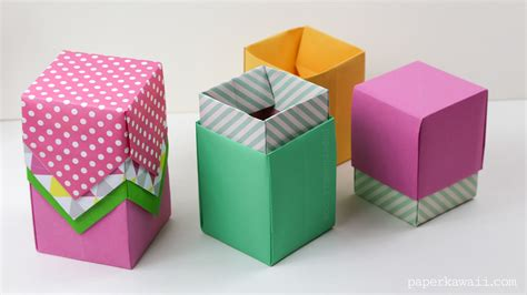 how to make origami boxes with lids origami box with lid