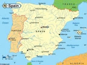 Spain On Map by Gallery For Gt Spain River Map