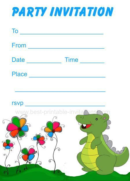 printable birthday invitations dinosaur dinosaur birthday invitations free printable party