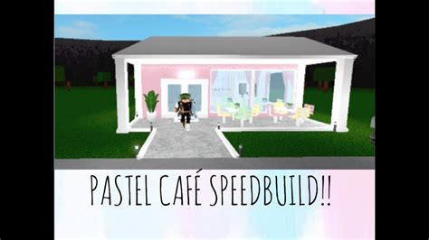 Welcome To Cafe pastel cafe welcome to bloxburg speedbuild