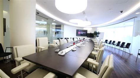 Big Meeting Table Laptop On Table And Speaking At Business Meeting Stock Footage 6420065