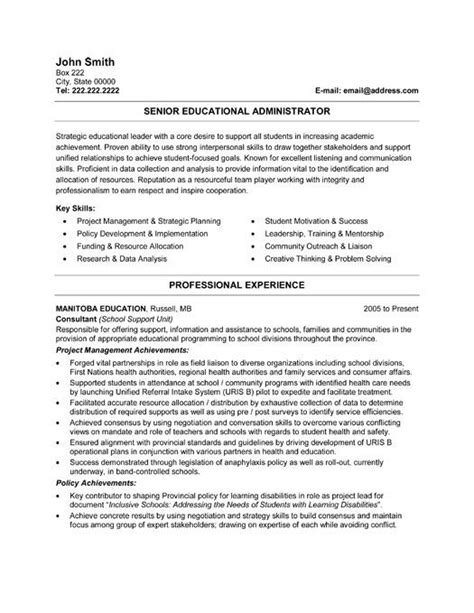 educational resume template click here to this senior educational