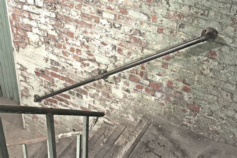Steel Banister Rails by Susannah Industrial Steel Pipe Staircase Rail By