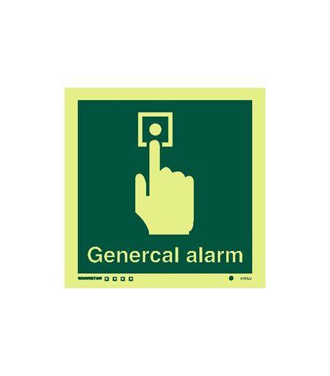 safety signs photoluminescent rigid pvc general alarm