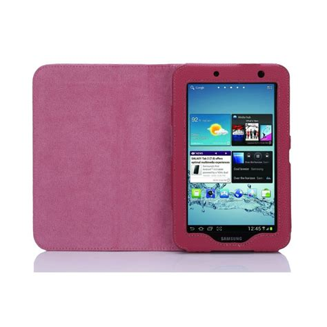 Casing Samsung Tab 2 multi function leather stand for samsung galaxy tab 2 7 0 p3100 pink from rm electronics