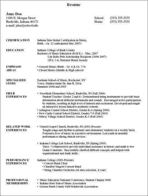 Resumes   National Association for Music Education (NAfME)