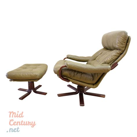 leather lounge chair and ottoman leather lounge chair with ottoman mid century