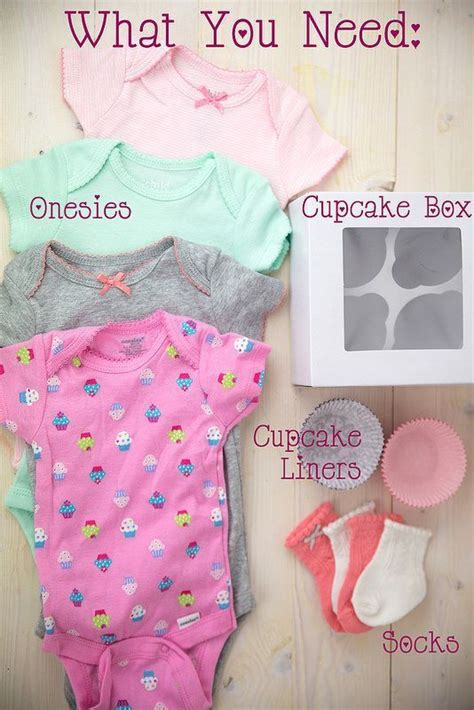 Baby Shower Onesie Cupcakes by 25 Best Ideas About Baby Shower Gifts On