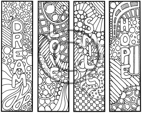 printable doodle bookmarks 9 best images of doodle coloring pages owl printable
