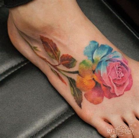 watercolor foot tattoo best 25 watercolor tattoos ideas on