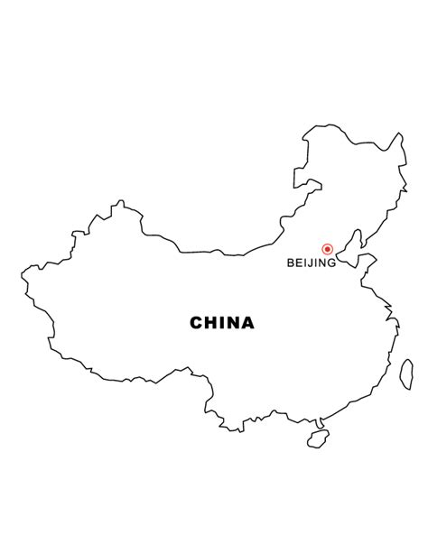 colombia map coloring page china map detailed reference maps of china map of china